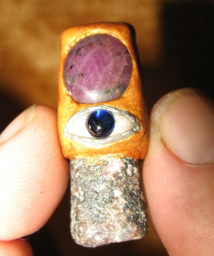 Ruby Kyanite Eye Pendant